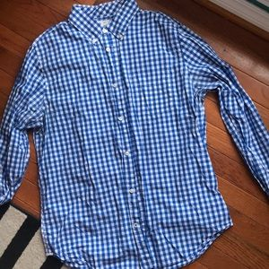 GAP lived in royal blue check button down
